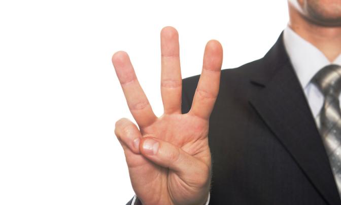 3 pirksti
