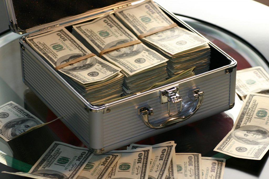 koferis ar naudu